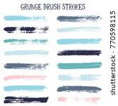 modern watercolor daubs set ... | Shutterstock .eps vector #770598115