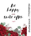 floral card beauty design with... | Shutterstock .eps vector #770598934