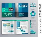 blue business brochure template ... | Shutterstock .eps vector #770599441