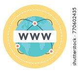 www flat vector icon.  | Shutterstock .eps vector #770602435