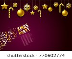 christmas background. it can be ... | Shutterstock .eps vector #770602774