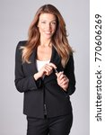 young elegant woman.... | Shutterstock . vector #770606269