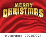 merry christmas message in gold ... | Shutterstock .eps vector #770607724