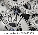 macro photo of tooth wheels...   Shutterstock . vector #770611999