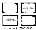 vector frames. rectangles for... | Shutterstock .eps vector #770613889