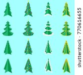 christmas tree icon | Shutterstock .eps vector #770616655