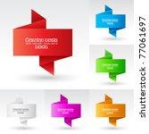 banners set. illustration on... | Shutterstock .eps vector #77061697