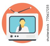 a tv  flat icon design of... | Shutterstock .eps vector #770617255