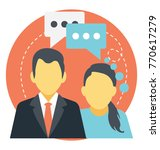 two people in a conversation ... | Shutterstock .eps vector #770617279