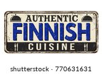 authentic finnish cuisine... | Shutterstock .eps vector #770631631