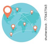 global positioning system flat ... | Shutterstock .eps vector #770637565