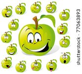 Green Apple With Many...