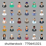 big set of people avatars with... | Shutterstock .eps vector #770641321