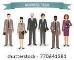 group of business men and women ... | Shutterstock .eps vector #770641381