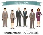 group of business men and women ... | Shutterstock .eps vector #770641381