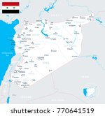 syria map and flag   high... | Shutterstock .eps vector #770641519
