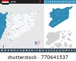syria map and flag   high... | Shutterstock .eps vector #770641537