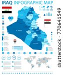 iraq infographic map and flag   ... | Shutterstock .eps vector #770641549