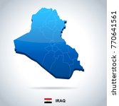 iraq map and flag   high... | Shutterstock .eps vector #770641561
