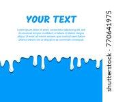 dripping milk  flow down. place ... | Shutterstock .eps vector #770641975