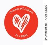 christmas love heart in a... | Shutterstock .eps vector #770643307