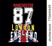 england flag typographic design ... | Shutterstock .eps vector #770644639
