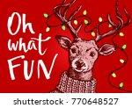 vector pen and ink hipster... | Shutterstock .eps vector #770648527