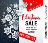 winter sale off template with... | Shutterstock .eps vector #770649934