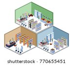 isometric 3d vector... | Shutterstock .eps vector #770655451