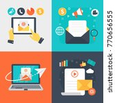 email marketing vector... | Shutterstock .eps vector #770656555
