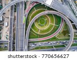 aerial view overpass traffic... | Shutterstock . vector #770656627