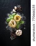 italian food and ingredients... | Shutterstock . vector #770666155