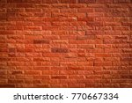 brick wall background. | Shutterstock . vector #770667334