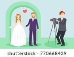 wedding people with... | Shutterstock .eps vector #770668429