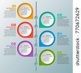 vector abstract 3d paper... | Shutterstock .eps vector #770672629