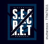 secret typography design tee ... | Shutterstock .eps vector #770673211