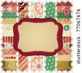 scrap background made in the... | Shutterstock .eps vector #77067676