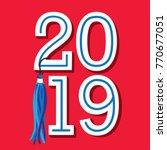 class of 2019 congratulations... | Shutterstock .eps vector #770677051