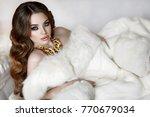 gorgeous beauty indian woman... | Shutterstock . vector #770679034
