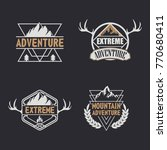 set of vintage camping  outdoor ... | Shutterstock .eps vector #770680411