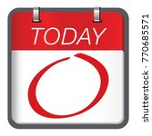 today is a important and... | Shutterstock .eps vector #770685571