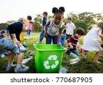 responsible group of kids...   Shutterstock . vector #770687905