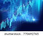 financial stock market graph on ... | Shutterstock . vector #770692765