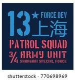 shanghai military plate ... | Shutterstock .eps vector #770698969
