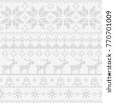 christmas seamless pattern.... | Shutterstock .eps vector #770701009