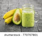 a freshly prepared smoothie of... | Shutterstock . vector #770707801