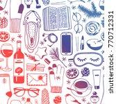 hand drawn fashion illustration.... | Shutterstock .eps vector #770712331