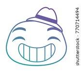 happy emoji face icon | Shutterstock .eps vector #770714494