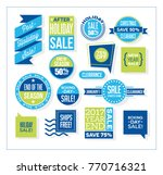 set of after christmas and end... | Shutterstock .eps vector #770716321