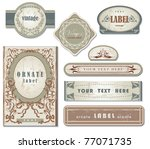 set of ornate vintage labels | Shutterstock .eps vector #77071735